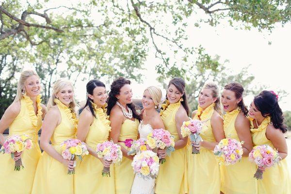 Yellow Bridesmaids Dresses 3