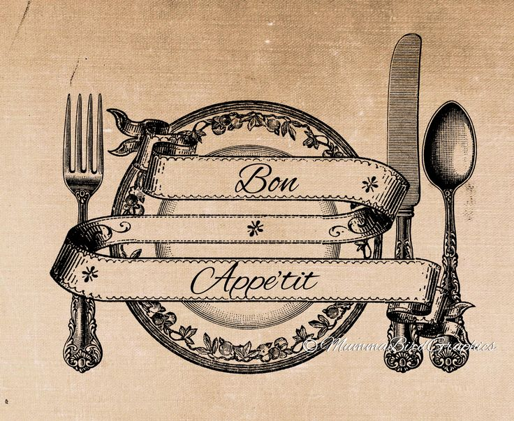 Vintage Bon Appetit/Knife/ fork/spoon/Plate/Cutlery. This is a digital download image used for transferring to fabrics and paper etc  Clip art , digital download , png  https://www.etsy.com/au/listing/181174360/vintage-bon-appetitknife?ref=shop_home_active_5