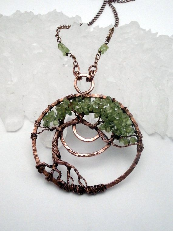 116 best tree of life images on pinterest tree of life tree art wire wrapped tree of life pendant necklace peridot bonsai by perfectlytwisted mozeypictures Image collections