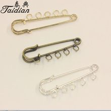 Taidian Iron Kilt Pins Brooch For Women Findings Fit Craft DIY Findings Accessories Supplies 3colors 16*52mm 10pcs/lot