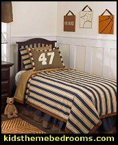 Make The Boys Pillows With Their Favorite Number. Kids Sports BedroomSports  ...