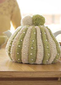 Free Knitting Pattern - Cozies: Stylish Beaded Tea Cosy