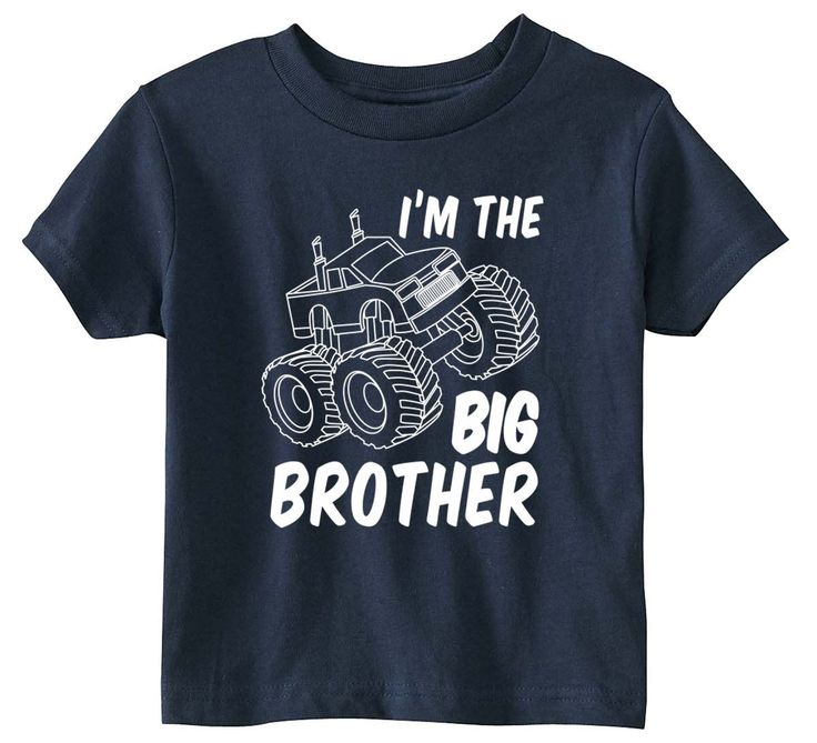 Lil Shirts Big Brother Monster Truck Youth and Toddler Shirt youth & Toddler Shirt made from 100% cotton knit 5.2 oz, A adorable birth announcement shirt for the new big Brother. Great as a baby showe