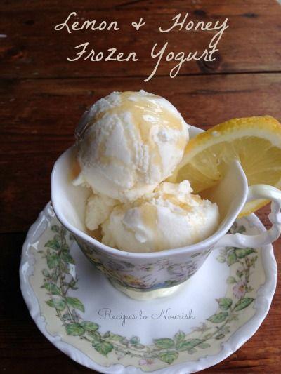 Lemon & Honey Frozen Yogurt ... refreshing + absolutely delicious. Only 3 ingredients!