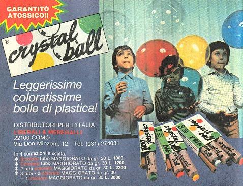 Indimenticabile il profumo delle Cristal ball