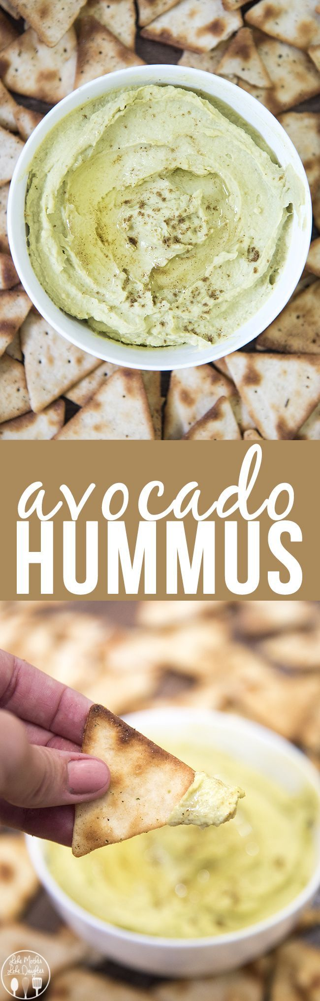 Avocado Hummus - adding avocado to your homemade hummus makes it extra creamy. Perfect paired with pretzels, or pita chips for the perfect healthy snack!