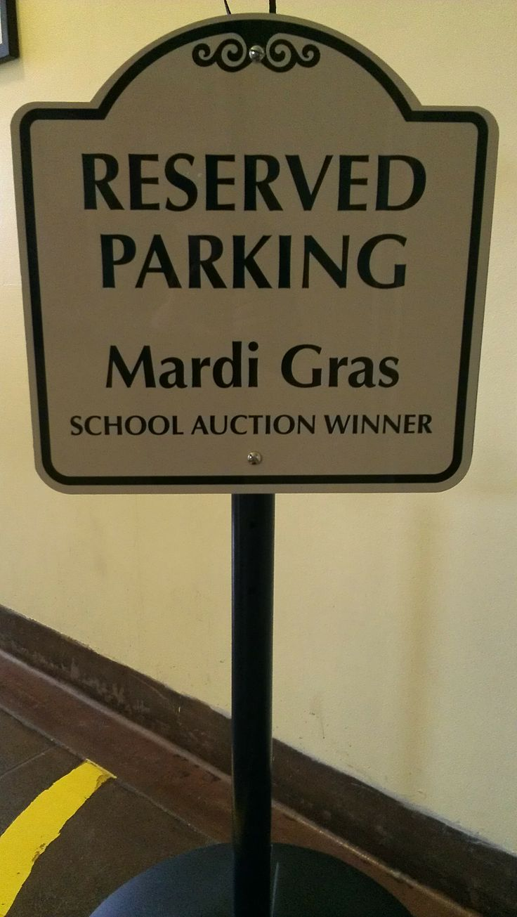 Trouble finding a parking spot? Worry no longer! This live auction item gets you a designated parking spot of your own for an entire year!