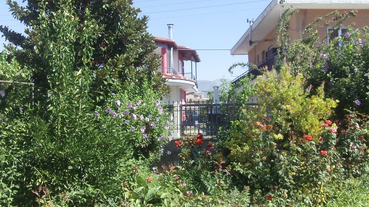 Roditsa shows its agricultural roots by the variety of flowers and shrubs decorating homes in the village.