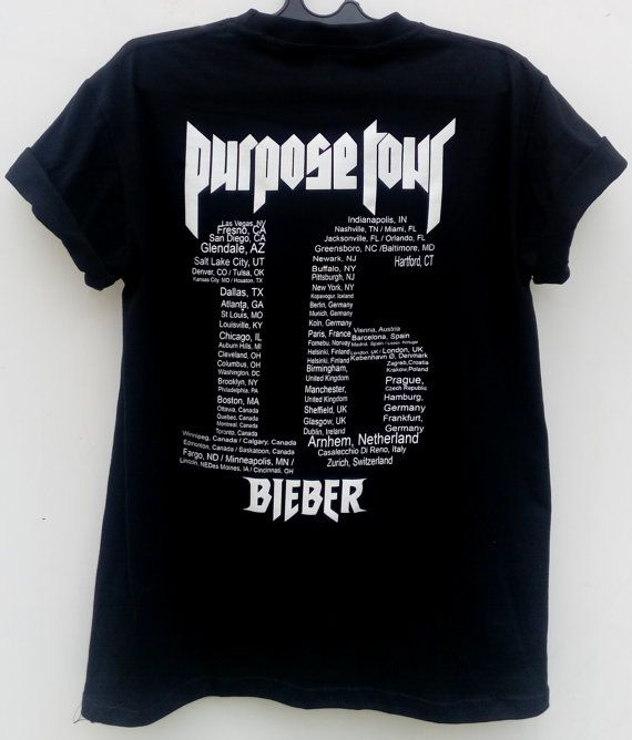 JUSTIN Bieber Purpose Tour 2016 T shirt for Men by AgusCollection