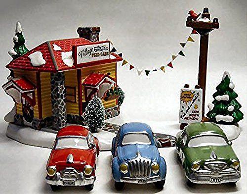 department 56 snow village village used car lot
