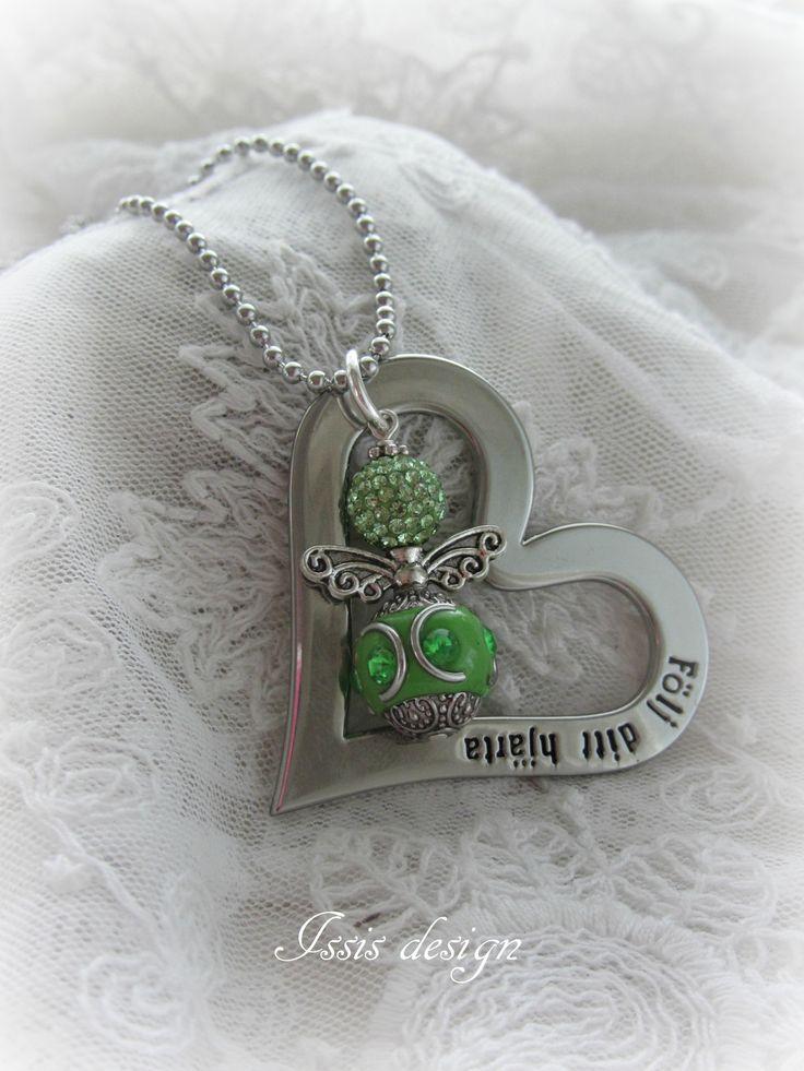 handgjorda smycken, halsband, hjärta, ängel