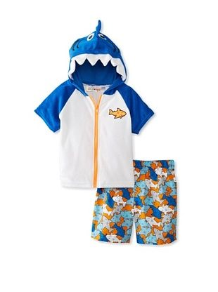 62% OFF Wippette Baby-Boy Shark Cover-Up & Short Set (Royal)
