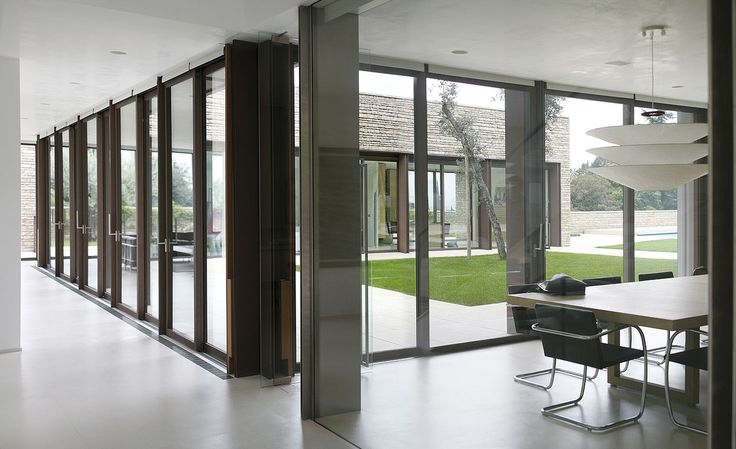 Metal Windows & Doors Frames #metal #architecture #design #doors #windows #house