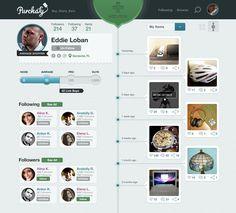 profile design, desktop, history