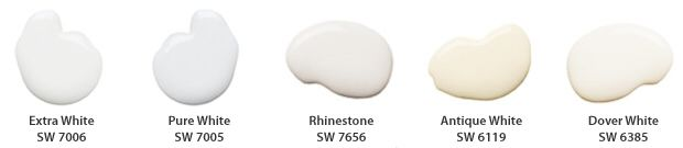 My favorite whites from Sherwin-Williams. Combine then or use just one.
