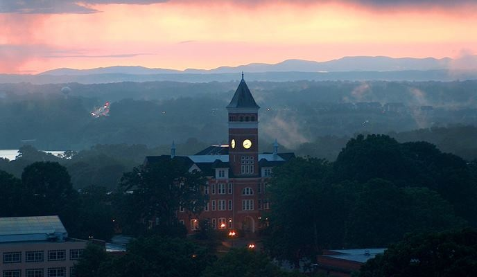 Hope And Change In Football >> Tillman Hall and a typical Clemson sunset | High Seminary... where the Tigers play | Pinterest ...