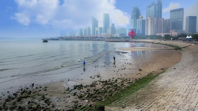 Qingdao beach.  -Qingdao, China.