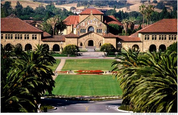 Stanford University. Spent the most amazing day here today with some very Clever folk!! Back to England to my cute lil village now