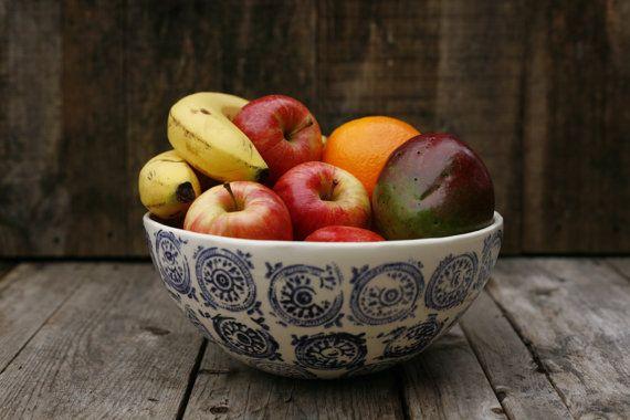 Grand bol à fruit/ Large fruit bowl by ArtetManufacture on Etsy, $50.00