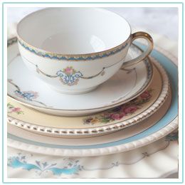 Vintage Dish Company — Seattle-based boutique rental service offering an eclectic collection of vintage china and tabletop accessories