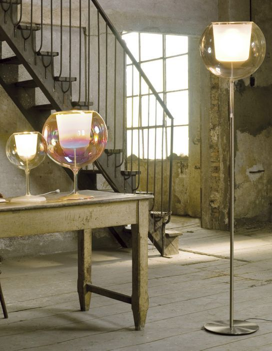Light up your home in italian designer style with the gorgeous modern irridescent glo floor lamp