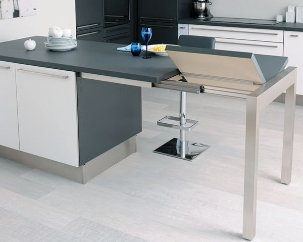 ilot central table pliante