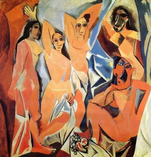 Picasso. Les Demoiselles d'Avignon, 1907