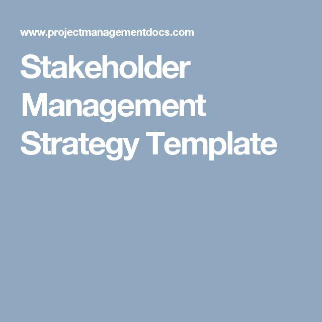 Best 25+ Stakeholder management ideas on Pinterest Stakeholder - sample stakeholder analysis