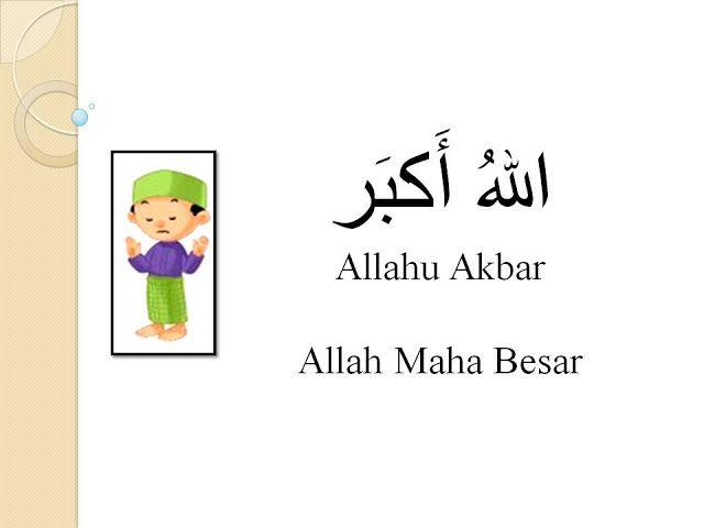 MAKSUD BACAAN DALAM SOLAT - GAMBAR KARTUN SOLAT (Takbiratul Ihram)