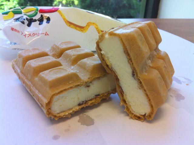 Japanese waffle ice cream sandwich