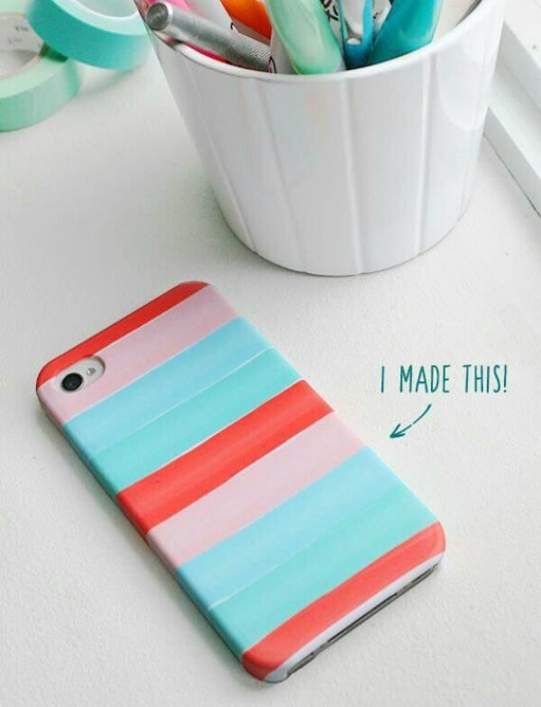 10 Amazing Back To School Washi Tape DIY's - washi tape iPhone cover- click through to read the rest of the projects