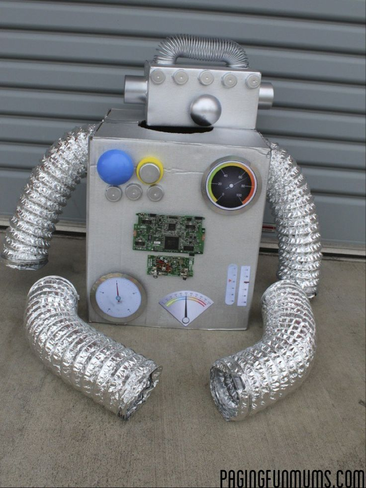How to make the coolest Robot Costume Ever!                                                                                                                                                     More