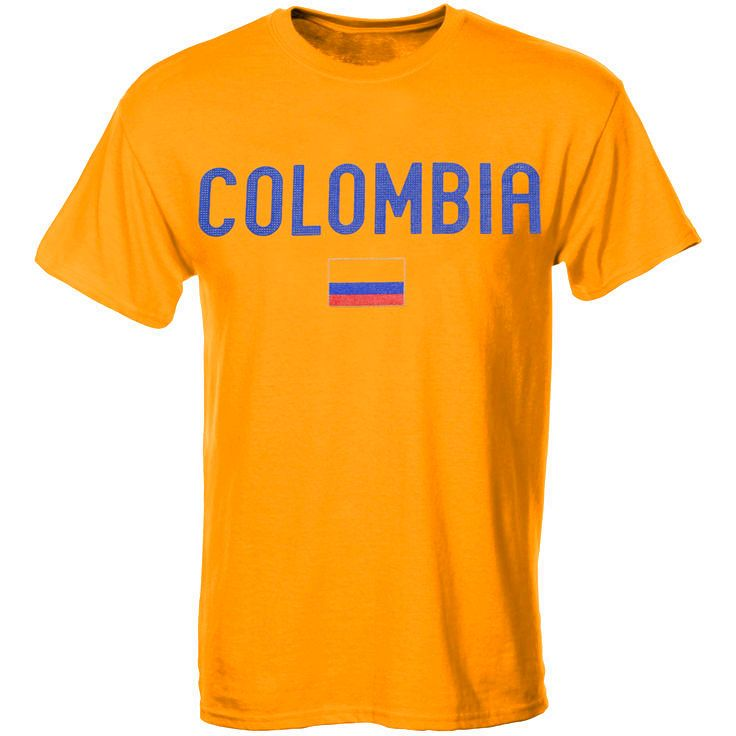 Colombia Country Flag T-Shirt - Yellow - $15.99