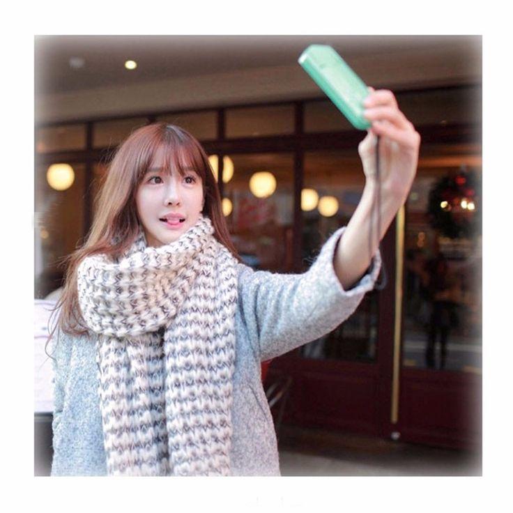 Foulard femme Scarf winter scarf wrap shawl Balaclava bufandas ponchos and capes 2017 Warm plaid Mohair Blanket Soft Scarf