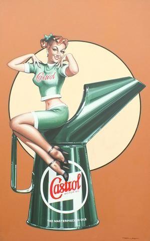 TONY UPSON, « CASTROL OIL SALES GIRL »,