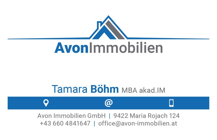 Clean Business Card Design, Front (Avon Immobilien GmbH, www.avon-immobilien.at)