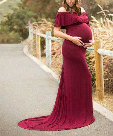 1b9ae368ad5 Look at this  zulilyfind! Merlot Harper Maternity Gown  zulilyfinds ...