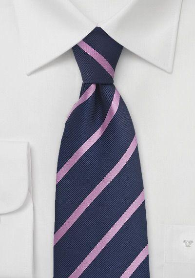 Preppy Striped Tie in Dark Eggplant and Pink, $5 | Cheap-Neckties.com