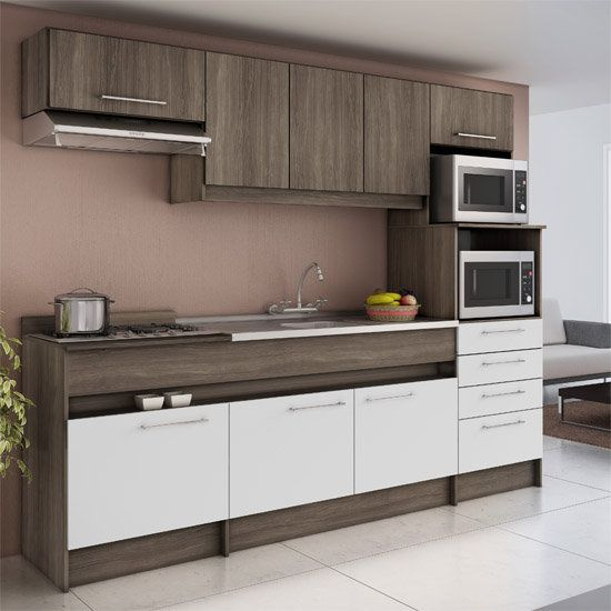 Cozinha Compacta Decibal Lívia com 8 Portas e 4 Gavetas  CO 770  COZINHA EQ # Cozinha Compacta Civardi