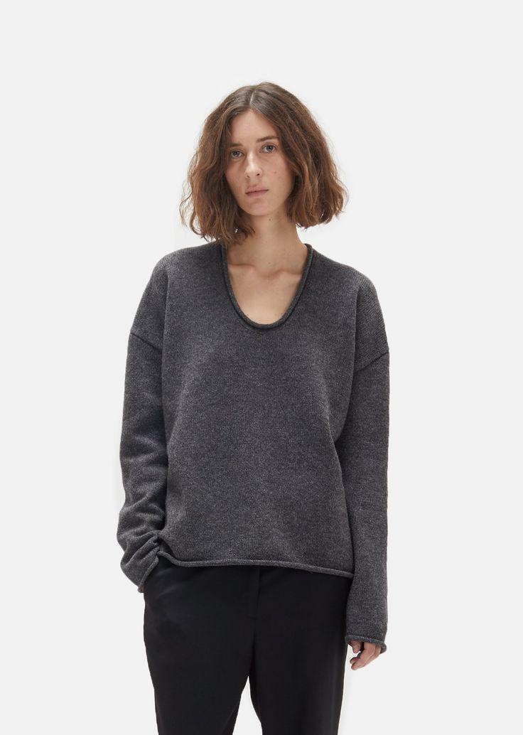 Love this U shape sweater! Mariel Merino Pullover by La Garçonne Moderne- La Garçonne