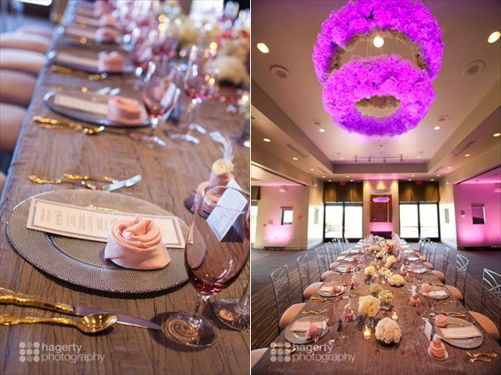 Modern Pink Wedding In Arizona Reception Tablecloths Linens Inspiration