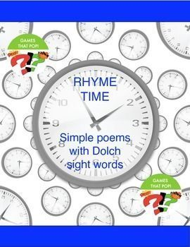 Sight Word Poems. PK and Kindergarten Poetry. Sight Word Poetry Worksheet. Print and Go. The Dolch primer sight words are used here. Easy to print. No prep. Easy poems to read.