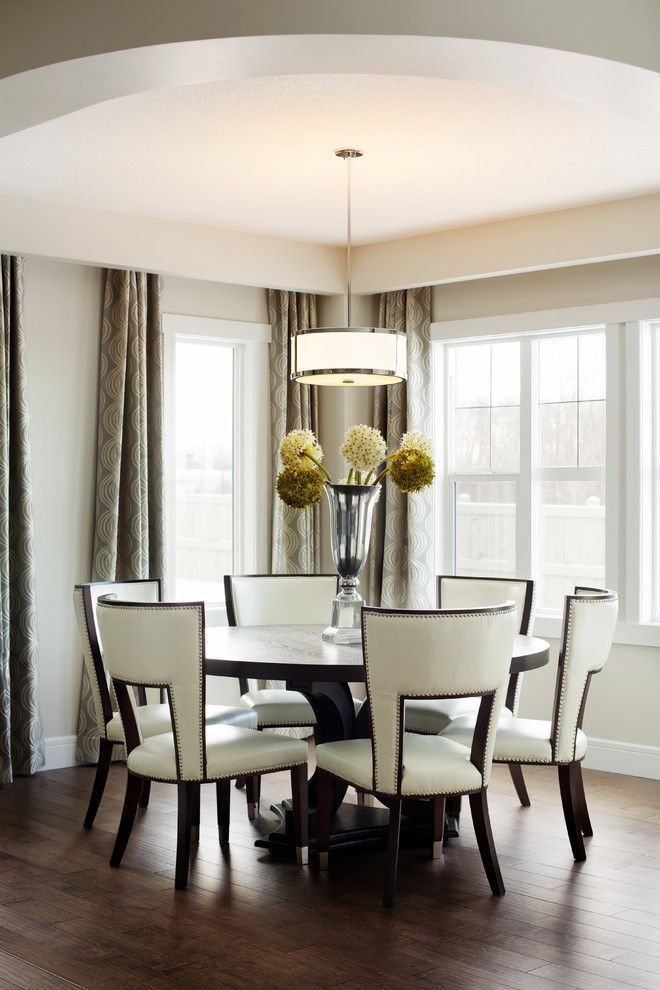 Delightful Dining Room Transitional design ideas for Breakfast Nook Round