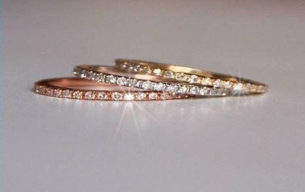 Goldringe - Entzückender Diamant Ring in 585/- (14K) Gold - ein Designerstück von JewelryCreation bei DaWanda