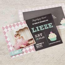 Uitnodigingen | Tadaaz #uitnodiging #verjaardag #verjaardagsfeestje #meisje #lief #cupcake #foto