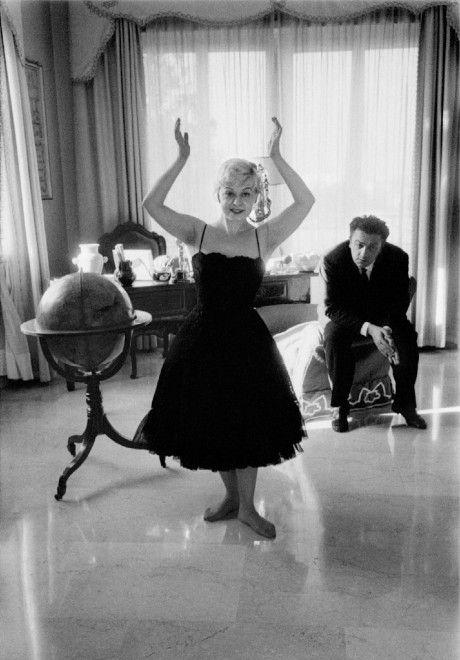 Federico Fellini e Giulietta Masina