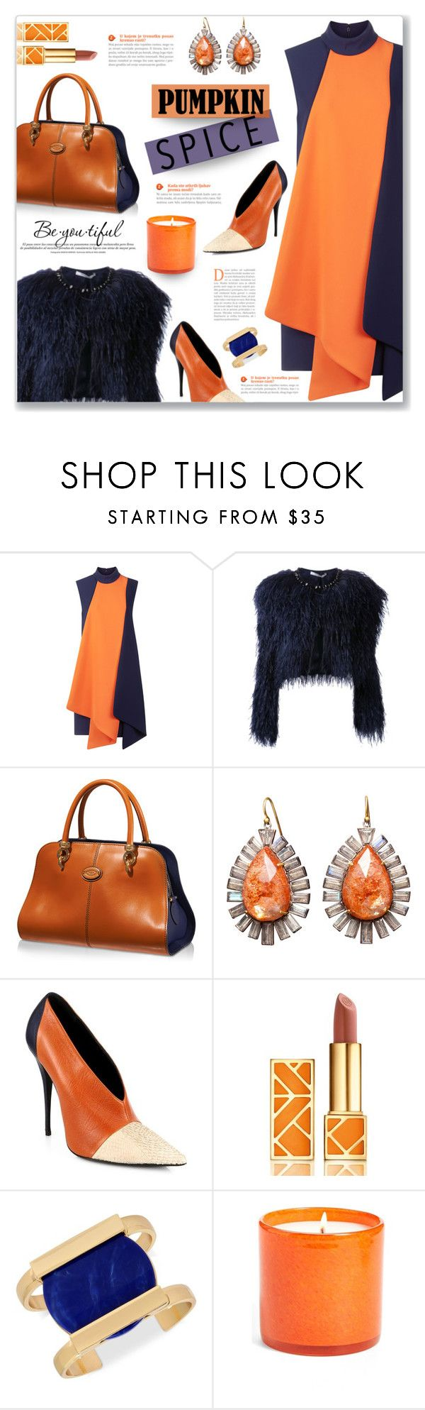 """""""Pumpkin Spice Style"""" by viebunny ❤ liked on Polyvore featuring Victoria, Victoria Beckham, Givenchy, Tod's, Nak Armstrong, Narciso Rodriguez, Tory Burch, INC International Concepts, LAFCO and Schone"""