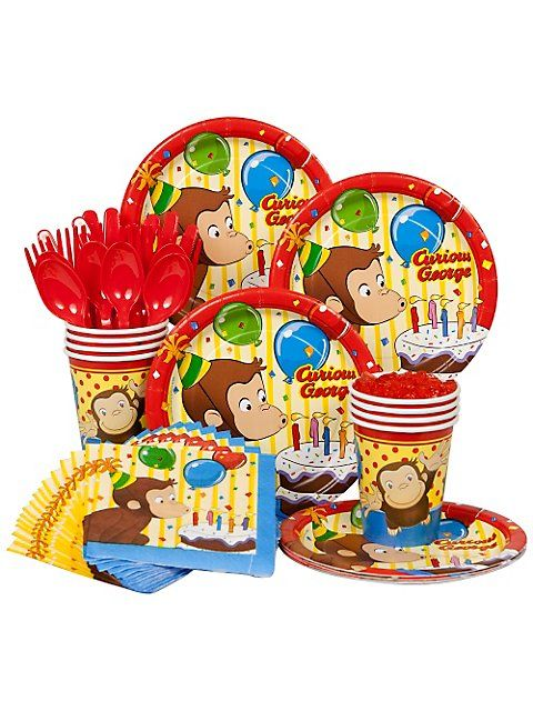 $11.69 Curious George Birthday Standard Kit - 8pk Curious George Birthday Party Supplies