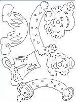 Mesetárház: Bohócok filigrán dekoráció