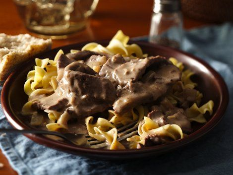 Easy Weeknight Beef Stroganoff - Looking for a classic French dinner? Then check out this beef stroganoff made using Progresso™ Recipe Starters™ mushroom cooking sauce.